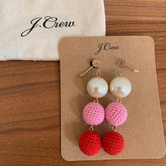 J.Crew Pearl and Crochet Earrings